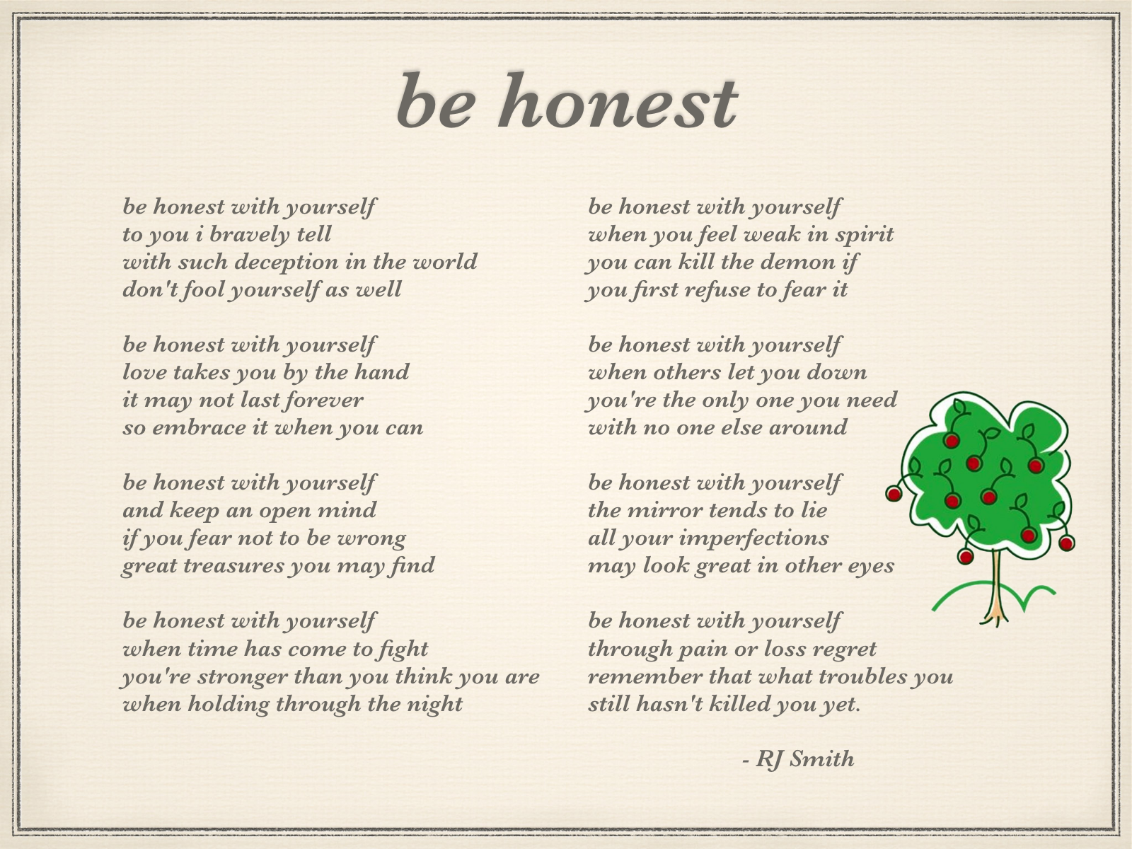 English worksheets: honesty poem |Honest Poetry